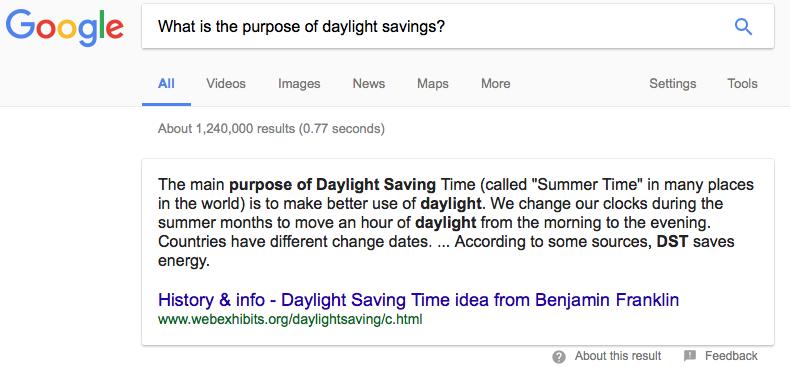 google answer box voice search