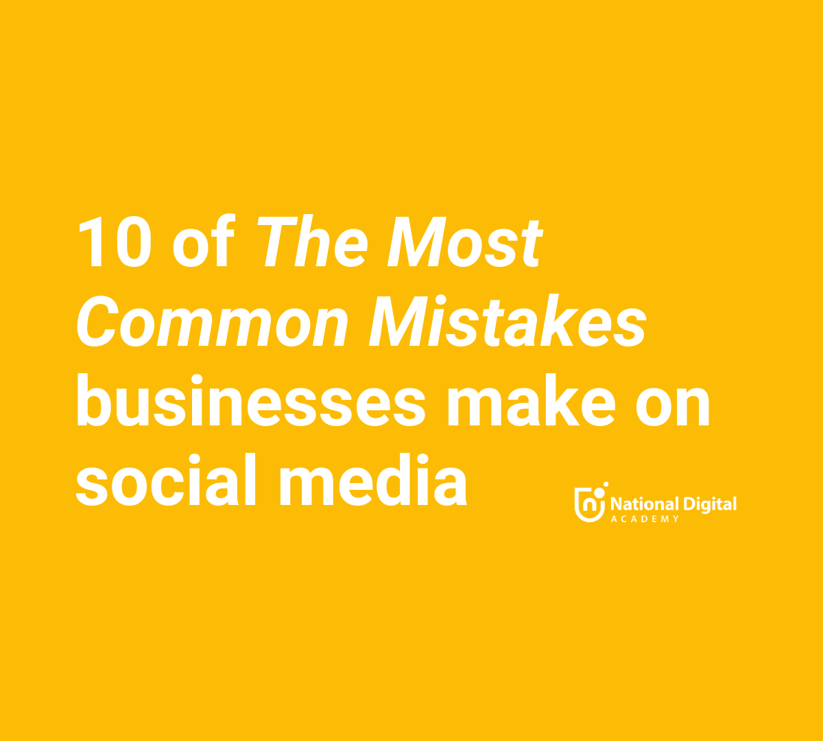 what are the most common social media mistakes